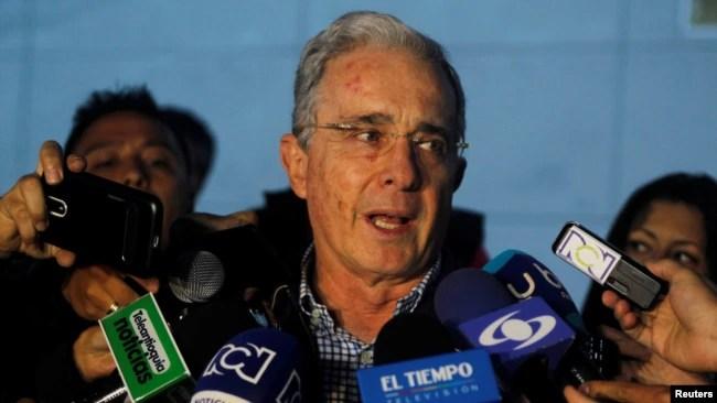El expresidente de Colombia Álvaro Uribe respalda la candidatura de Iván Duque para presidente.