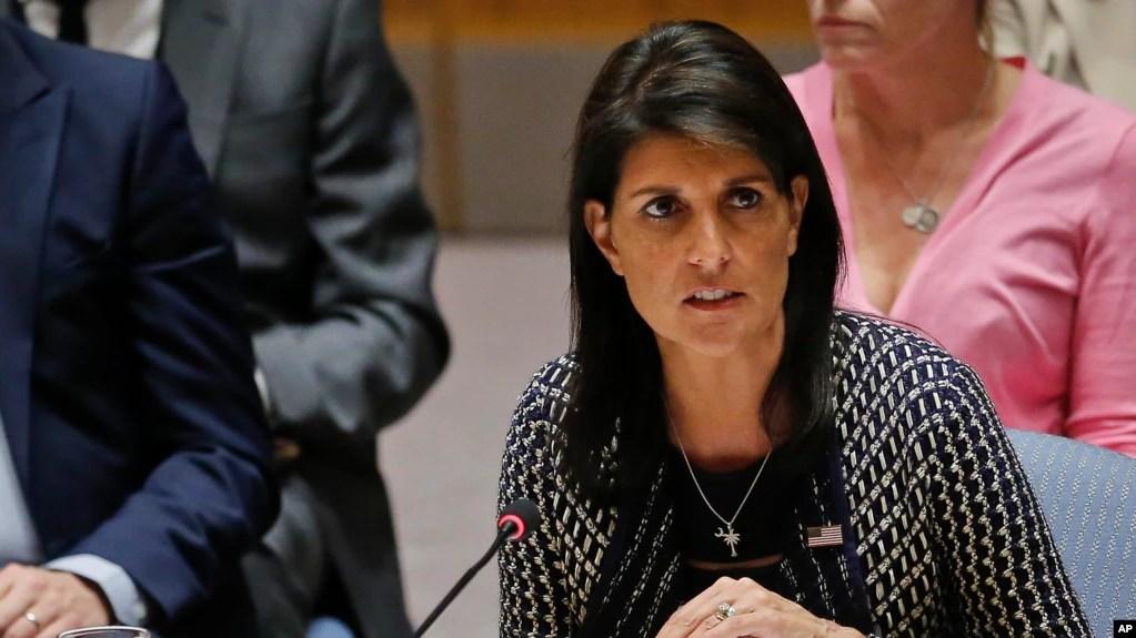 سفیر آمریکا در جلسه روز چهارشنبه سازمان ملل از دیگر کشورها خواست در قبال انحراف ایران از برجام سکوت نکنند.