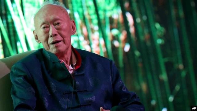 Ông Lý Quang Diệu, người sáng lập đất nước Singapore hiện đại.