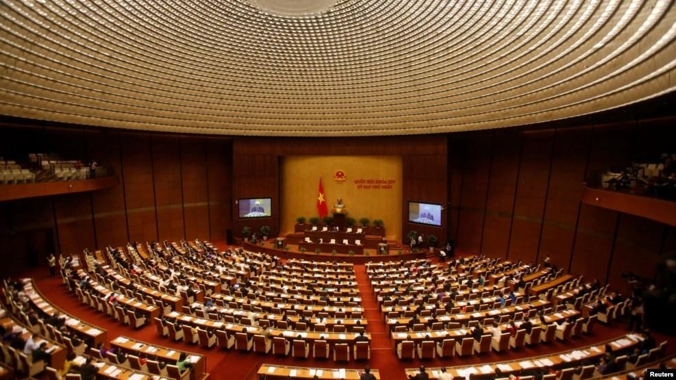 Một phiên họp của Quốc hội tại hội trường Ba Đình ở Hà Nội, Việt Nam. (Ảnh tư liệu)