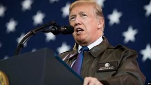 Tổng thống Donald Trump phát biểu tại căn cứ Yokota hôm 5/11.