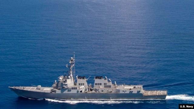 Chiến hạm USS Lassen hoạt động trong vùng biển quốc tế ở Mỹ Biển Đông.