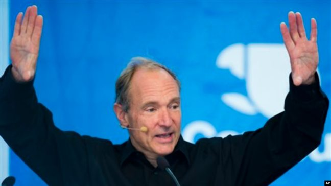Sir Tim Berners-Lee, inventor del World Wide Web.