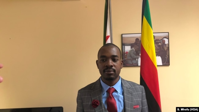 Nelson Chamisa, the president of Movement for Democratic Change Alliance says his party has not received the official voters roll from the Zimbabwe Electoral Commission, 17 June 2018.