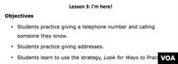 Lesson Plan - Lesson 3