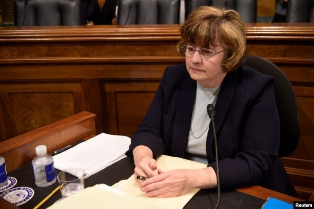 Rachel MItchell, fiscal de Arizona, que interroga a Christine Blasey Ford la acusadora del nominado a la Corte Suprema Brett Kavanaugh. Septiembre 27 de 2018.