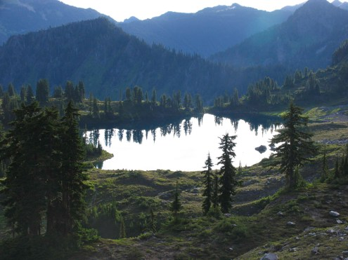 Morning view of Lunch Lake