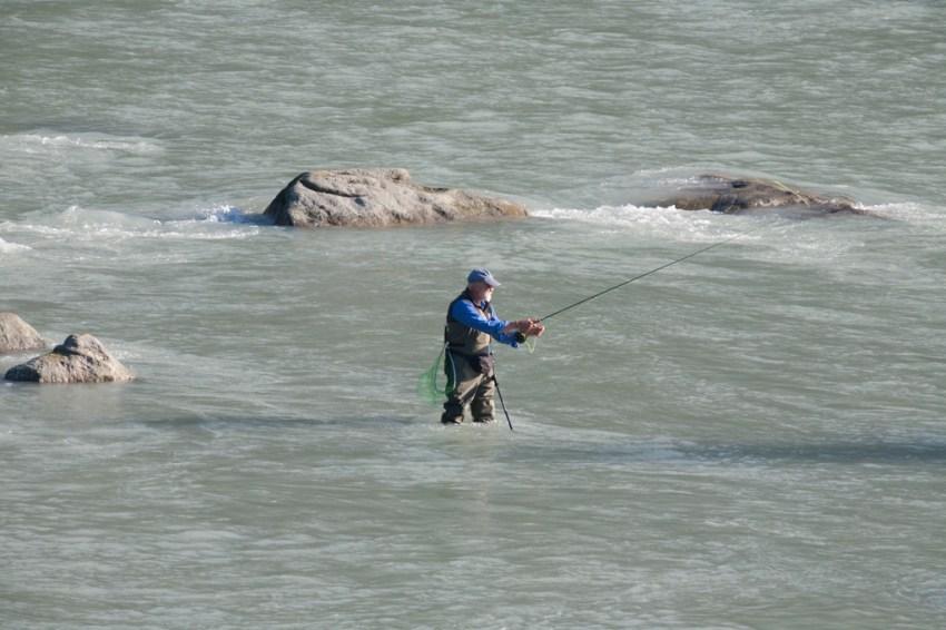 Salmon fishermen on the Chilkoot River