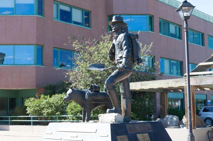 A prospector and his faithful dog