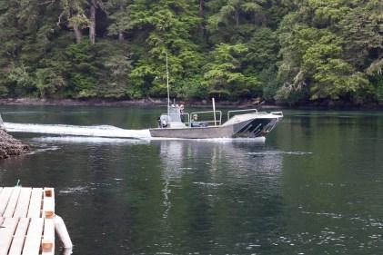 Ferry at Nitinat Narrows