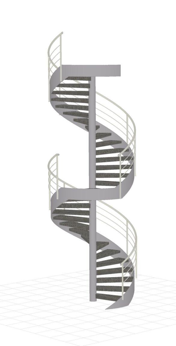 Conception-Escalier-colimaçon-Acier-Isère