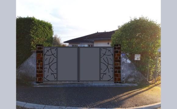 Portail battant-métal-Isère-design-conception