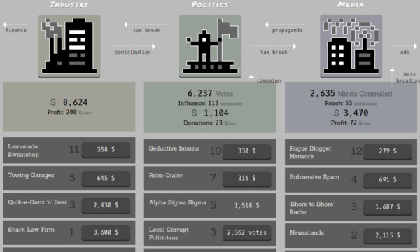 В conspiracy clicker есть 3 отдельных взаимосвязанных пути улучшений.