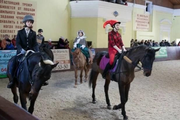 Театральная постановка с лошадьми