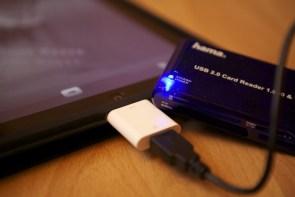 iPad, Camera Connection Kit und Kartenleser