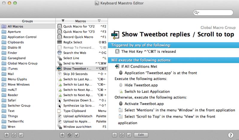 Tweetbot Replies_Keyboard Maestro