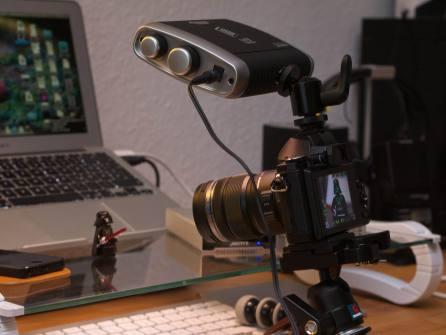 Litepanels Croma – Makro, Croma auf der Kamera