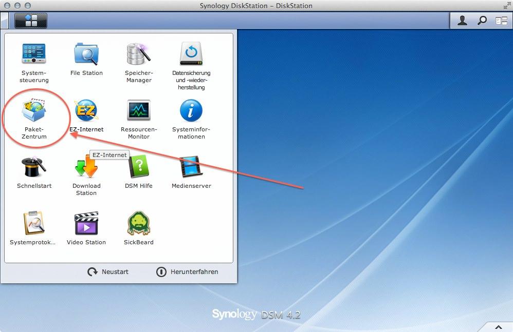 CrashPlan auf DiskStation 1