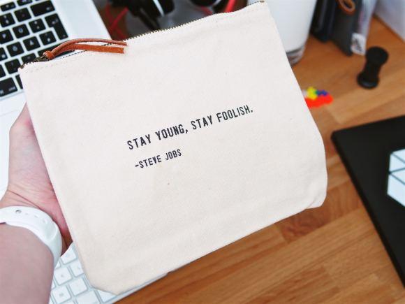 Zipper Bag Steve Jobs Quote 1