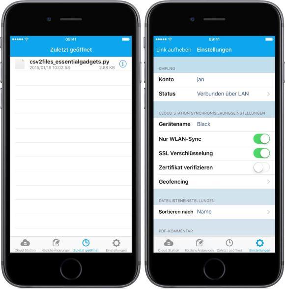 Cloud Station Client Screenshots iOS 2
