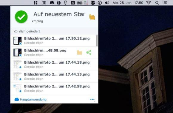 Cloud Station Screenshots OS X 6