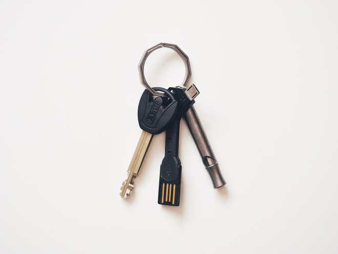 Handgrey Knox Titanium Split Key Ring P4141217