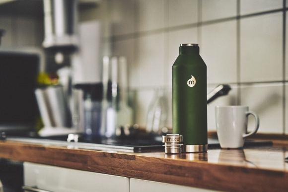 Mizu Doppelwandige Isolierte Trinkflasche Steel Cap, Soft Touch _DSC0053