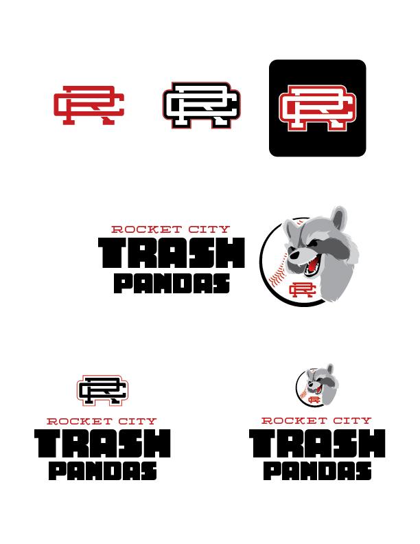 Rocket City Trash Pandas Logo Revision B