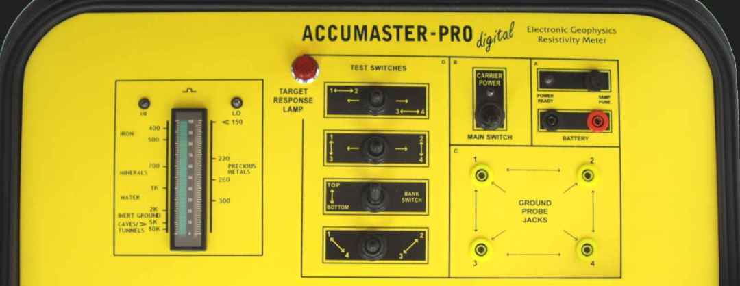 Accumeter Accumaster Pro Digital geophysical locator gold detectors
