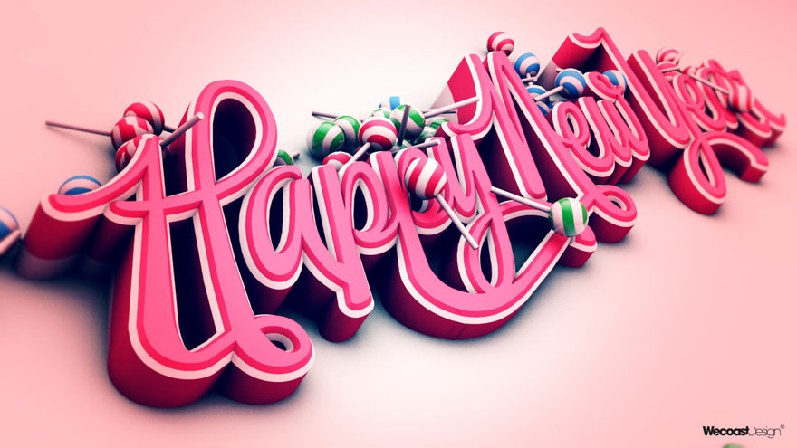 Inspiring Font Typography  70  Creative Font Typography Designs     Happy New Year 2011 Font Typography