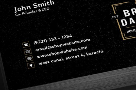 Free Vintage Black Business Card PSD Template   Freebies   Graphic     Business Card Template Preview