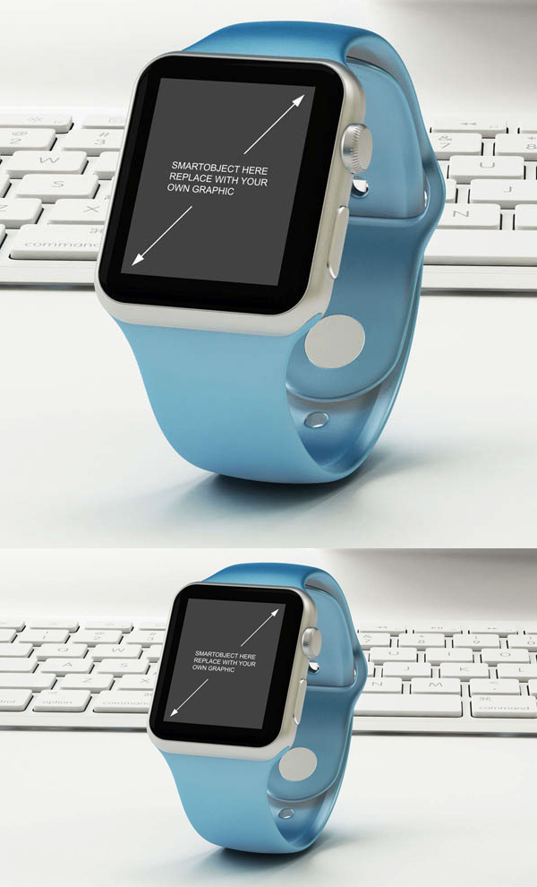 Free Apple Watch Mock-up PSD