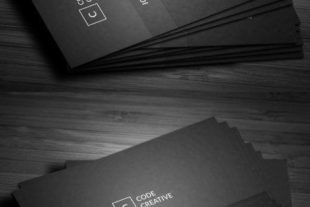 Business Cards Design  26 Ready to Print Templates   Design     Simple Modern Pixels Business Card