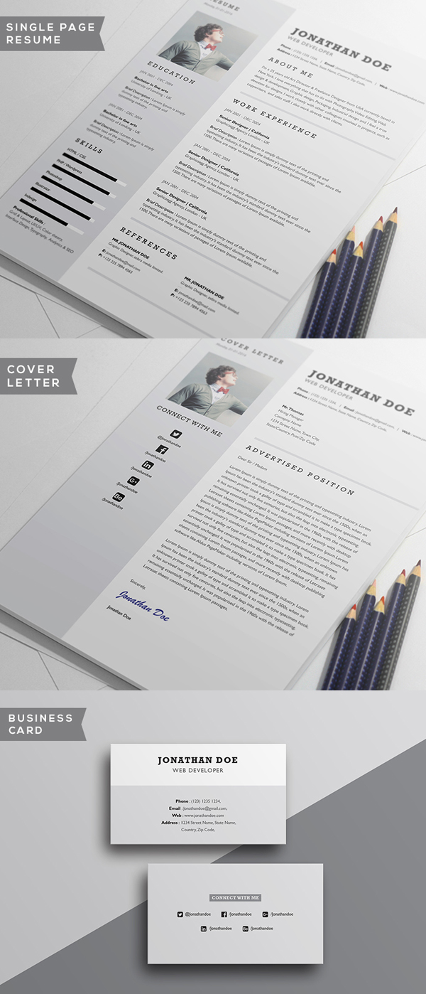 Free Minimalistic CV Resume Templates with Cover Letter Template     Free Minimalistic CV Resume Templates with Cover Letter Template   11