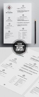 Professional Resume Templates Free  Best Cv Template Free Monpence     Free Clean Modern Cv Resume Templates Psd Freebies