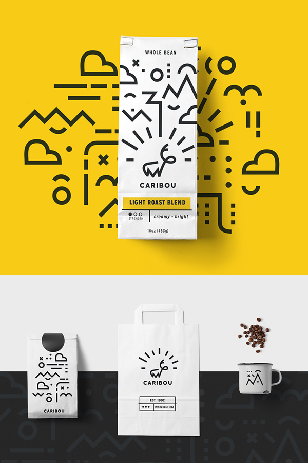Branding: Caribou Coffee - Stationary Items -