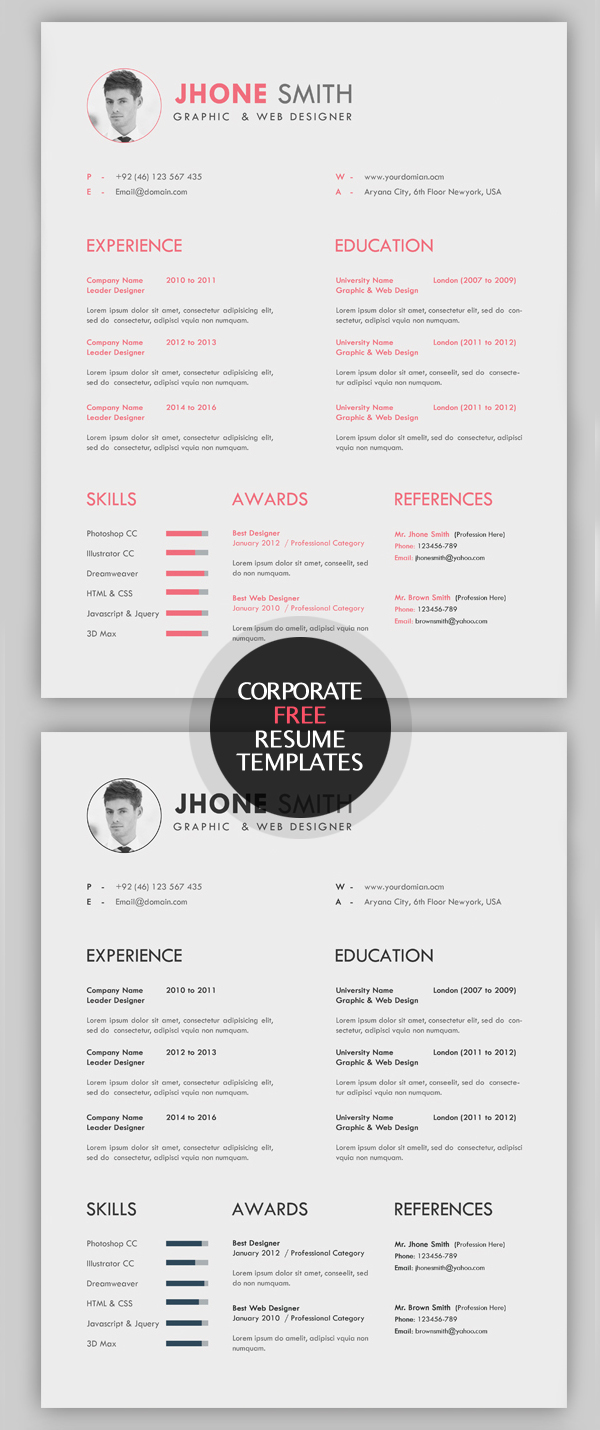 Resume Cover Letter Template 2017 For And