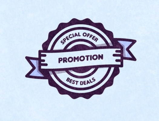 Free Promotion Vector Badge
