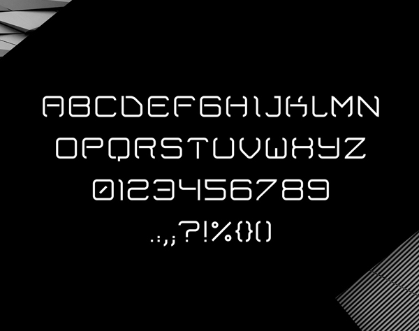 Plaza Free Font Letters