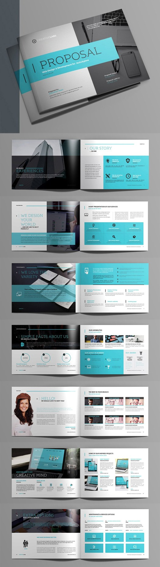 20 new creative business proposal templates mixed sign professional business proposal templates design 11 flashek Images