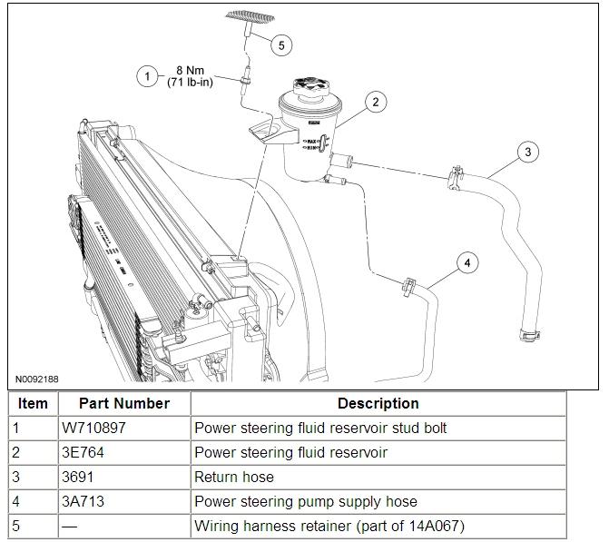 F 2006 Power Diagram 4 Ford 2 Hose Steering 150