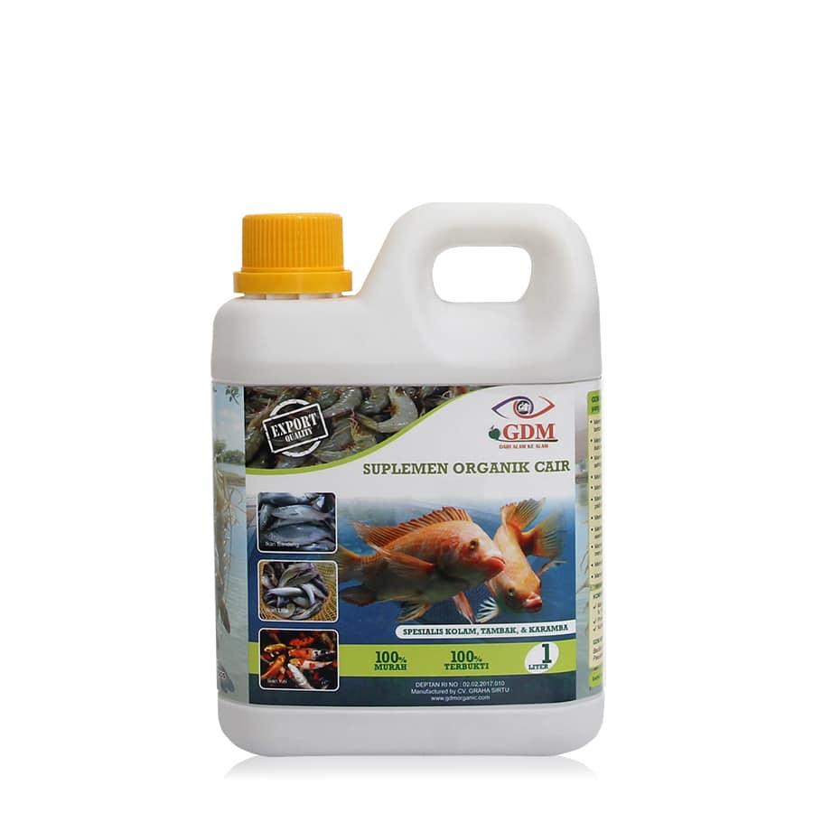 produk suplemen organik cair gdm spesialis ikan 1ltr
