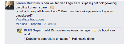 Plus Facebook è compatibile Lego?