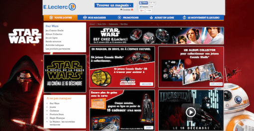 Leclerc Star Wars home page