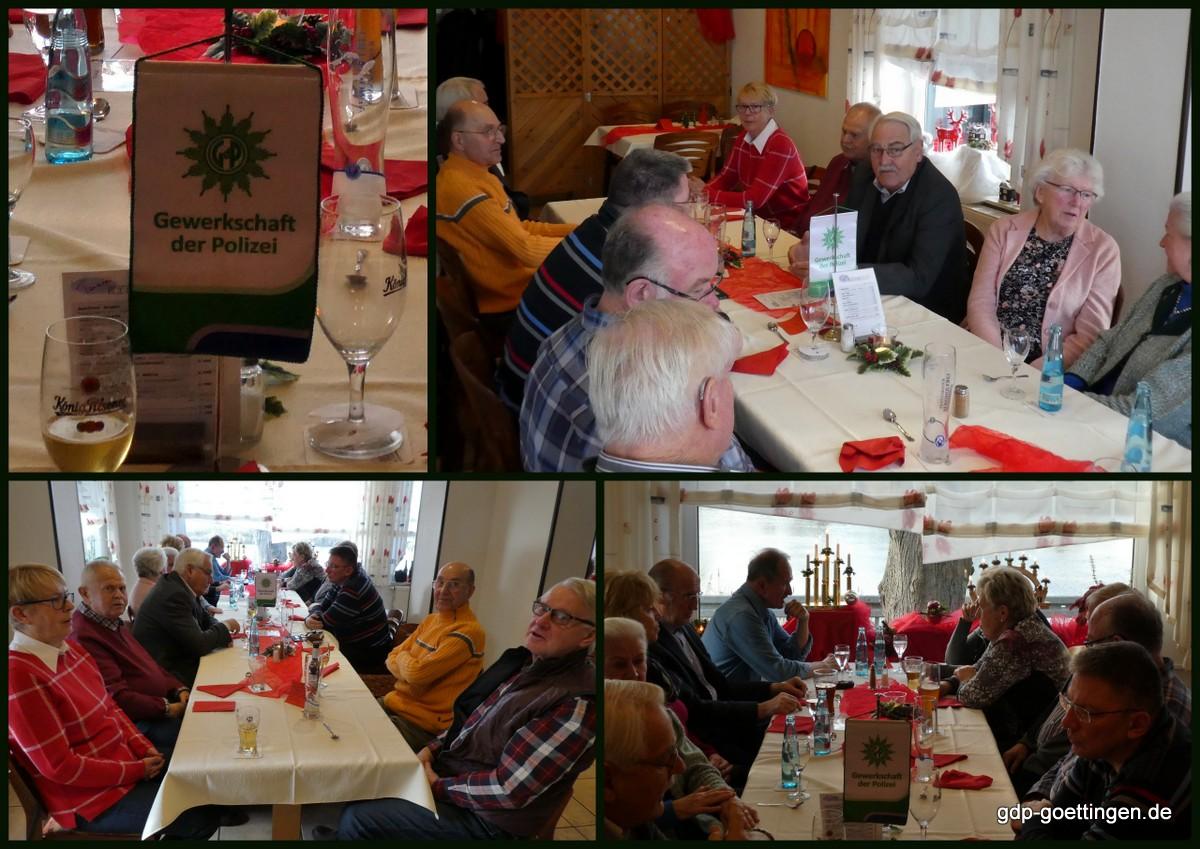 Hamelner GdP-Seniorengruppe trifft sich zum Weihnachtsessen. Jahresprogramm 2019 liegt vor.