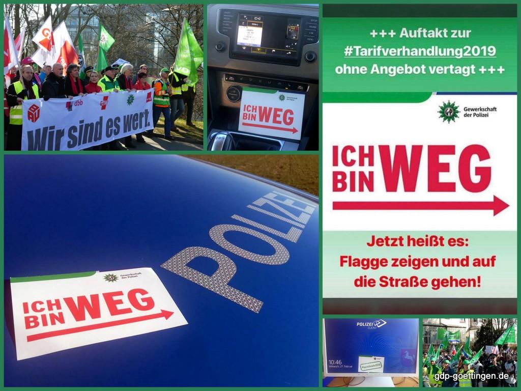 Verlaufsbericht Tarifdemo Bremen aus Sicht der GdP BG Göttingen