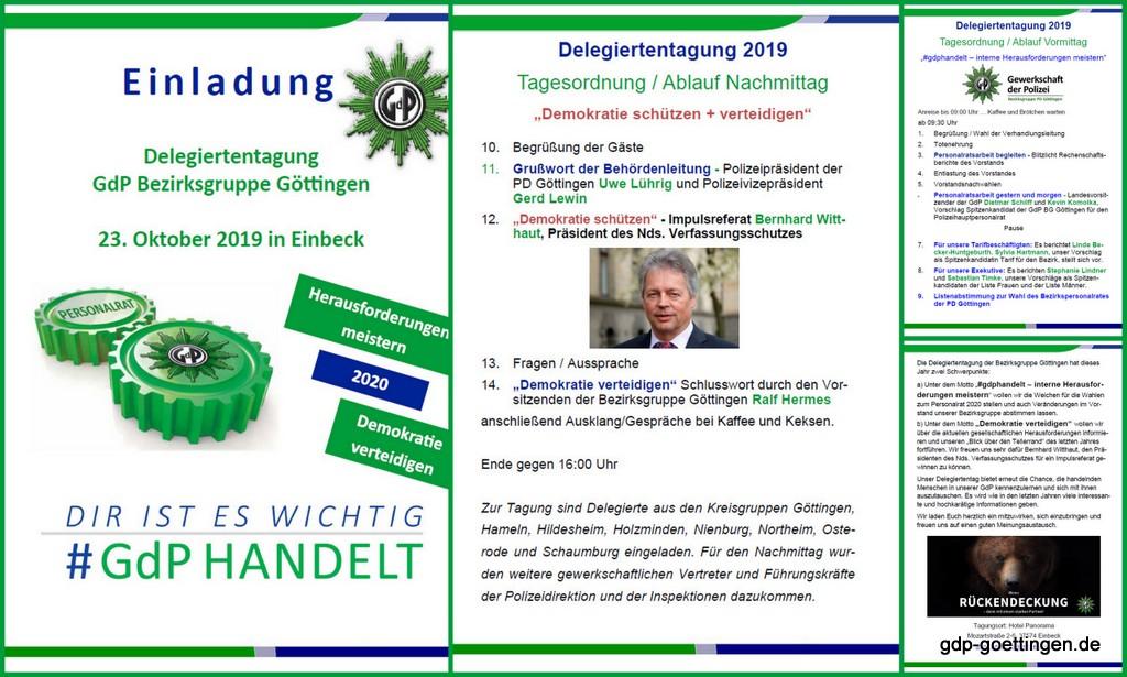 """Hintergrundinfos """"Herausforderungen meistern – Demokratie verteidigen"""" – Delegiertentag der GdP BG Göttingen –"""