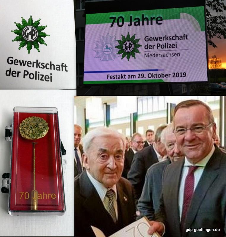 Ehrung für Eugen Kruska – 70 Jahre GdP Mitglied.