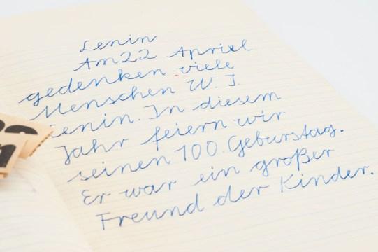 Dictation on Vladimir Lenin (photo: Jo Zarth).