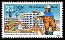 1979 stamp from GDR Postal Service in honour of Free German Youth Initiative in support of the construction of Marzahn.